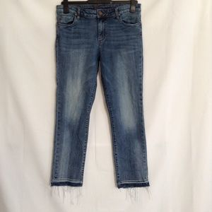 Kut Jeans 10 Ankle Straight Leg Raw Frayed Hem